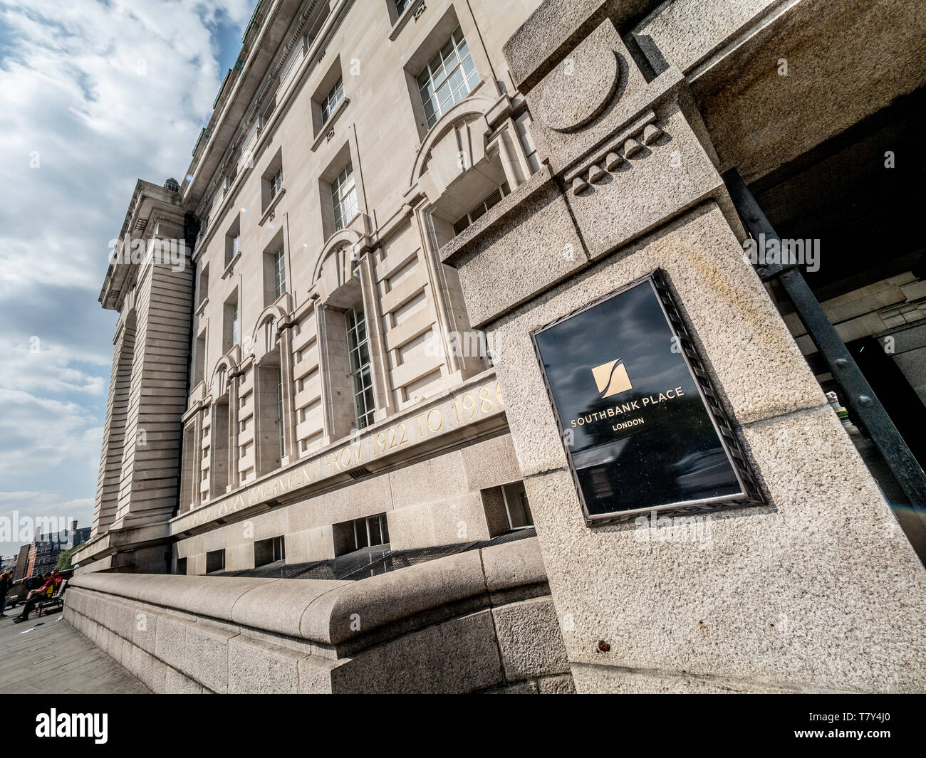 County Hall building, Westminster, London. Home of London Government 1922-1986. Now used as an events venue and hotel. - Stock Image