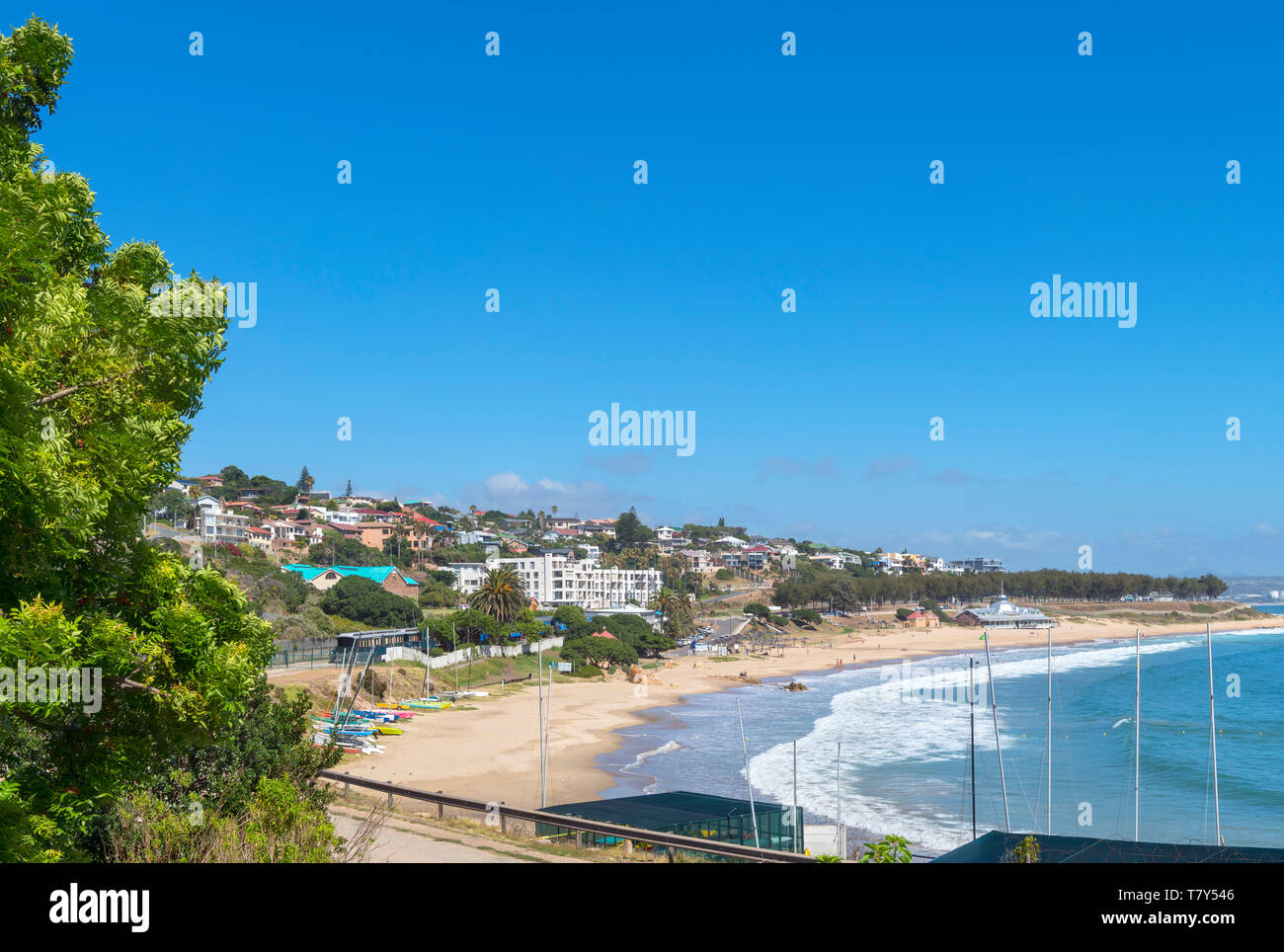 Santos beach viewed from the Dias Museum Complex, Mossel Bay, Garden Route, South Africa Stock Photo