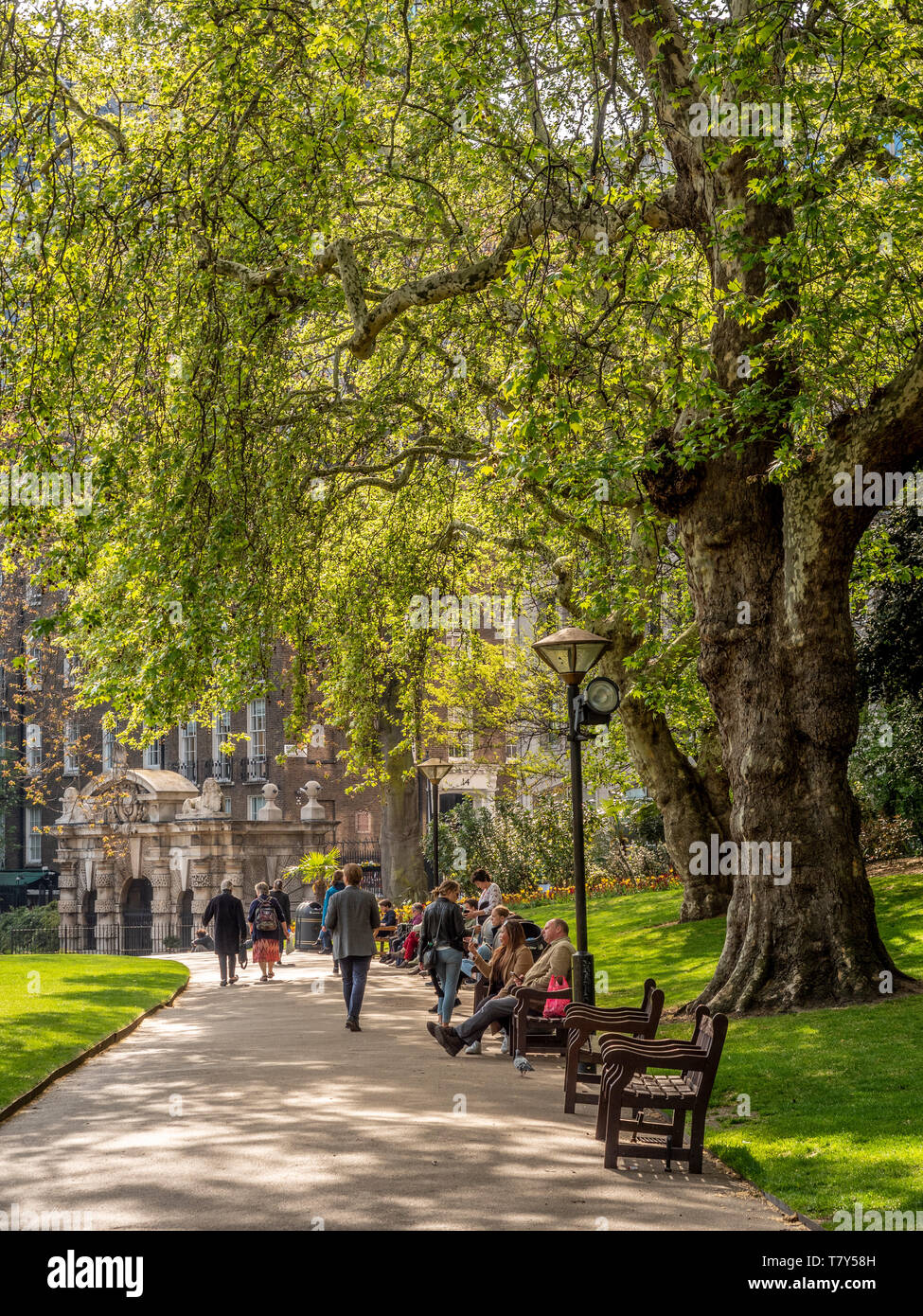 Victoria Embankment Gardens, London, UK. - Stock Image