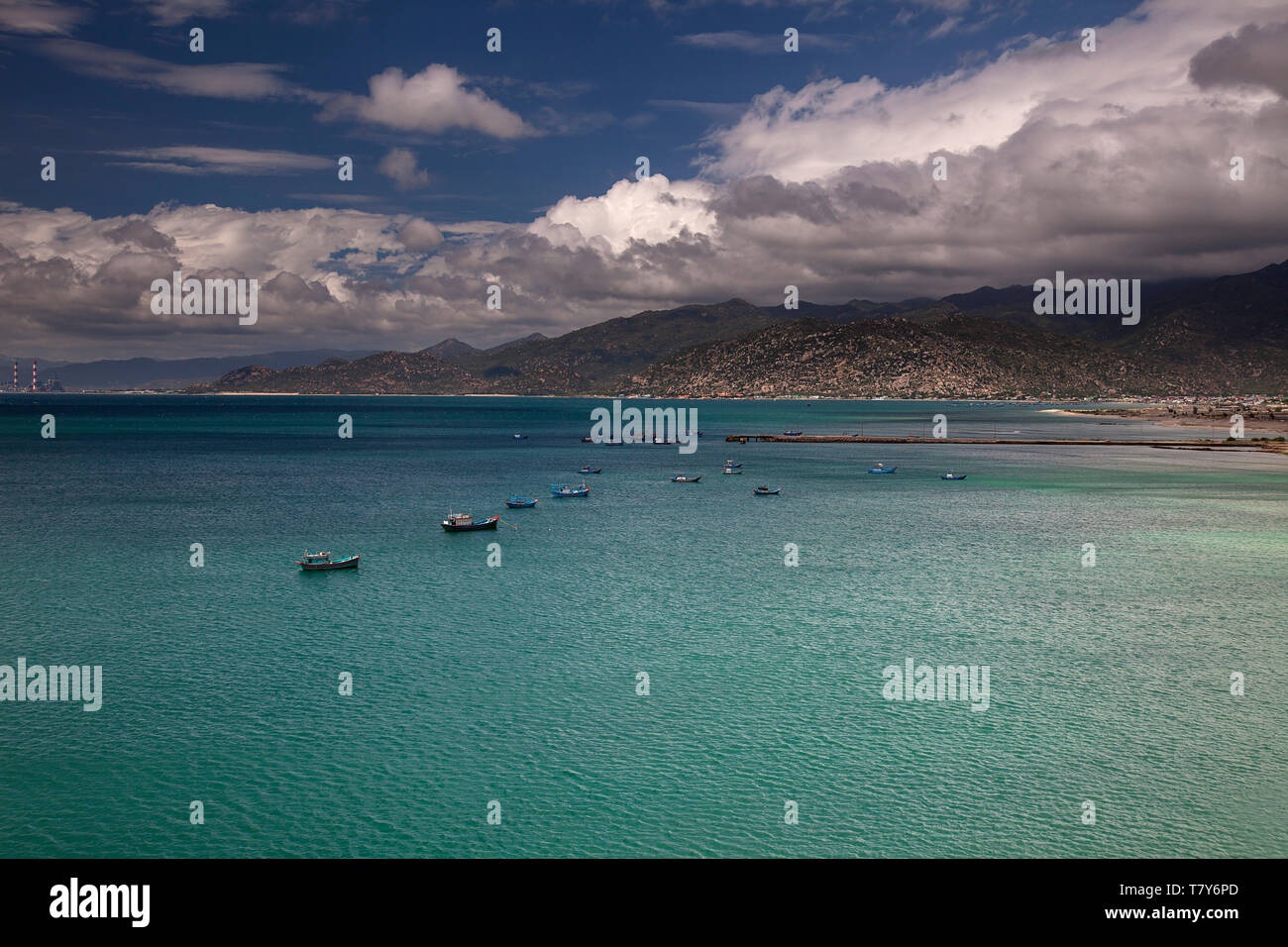 Landscape at Vinh Hy, South China Sea,Ninh Thuan, Vietnam - Stock Image