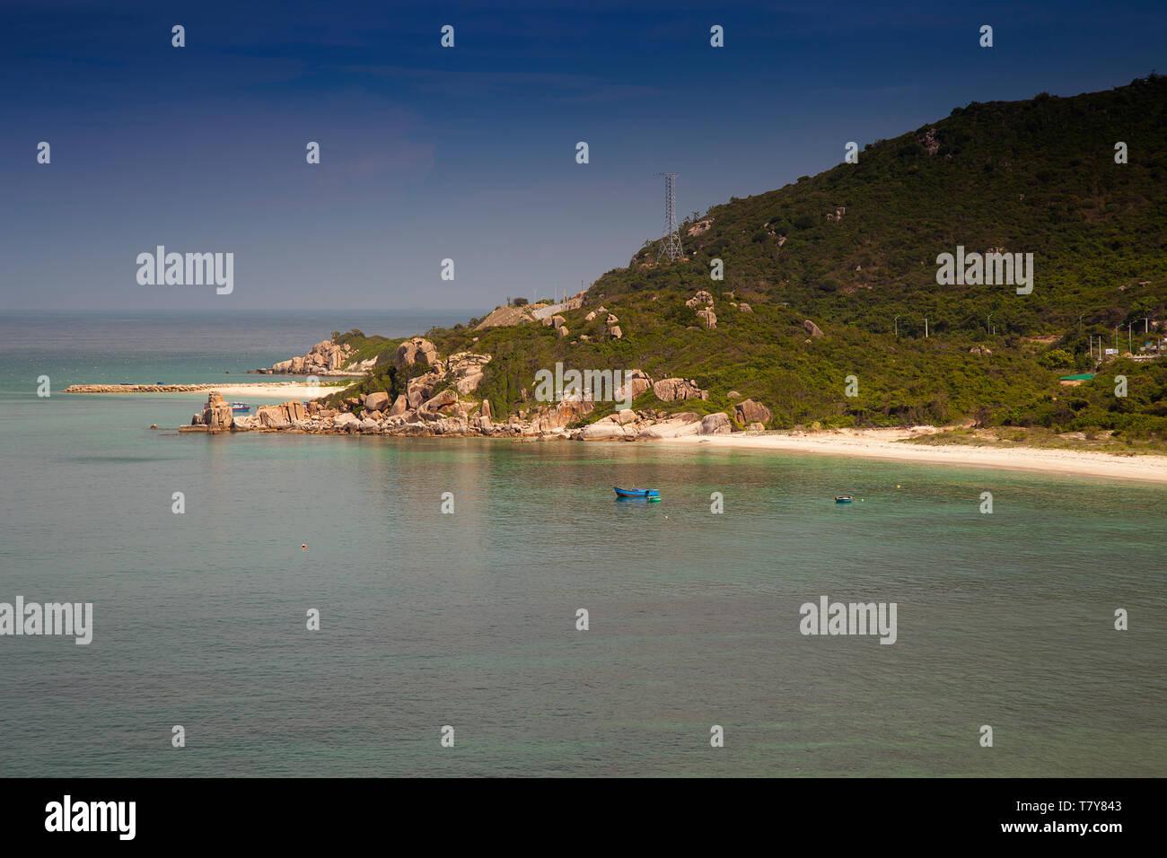 Rocky coast landscape at Vinh Hy, South China Sea,Ninh Thuan, Vietnam,asia - Stock Image