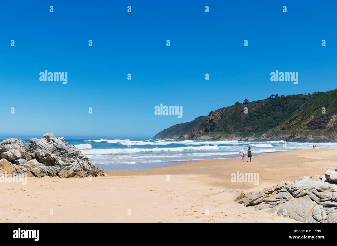 The beach at Wilderness, Garden Route, Western Cape, South Africa Stock Photo