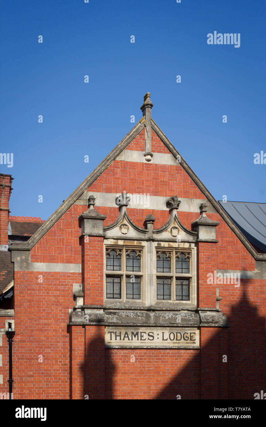 Thames Lodge, a Victorian Masonic Lodge building and home to the Thames Lodge branch of the Freemasons in Henley-on-Thames. - Stock Image