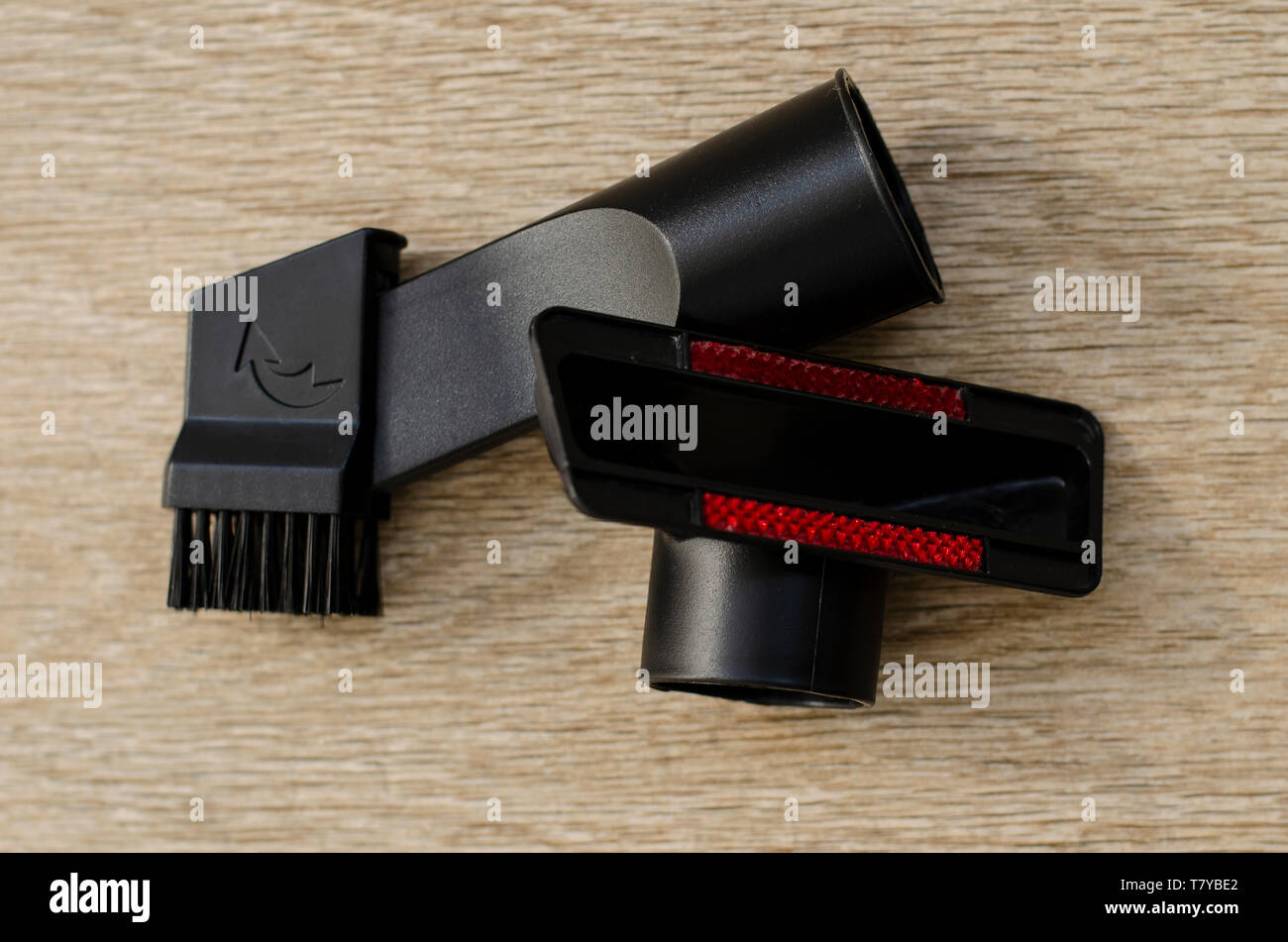 Nozzles for Vacuum Cleaner. Housekeeping and cleaning concept. - Stock Image