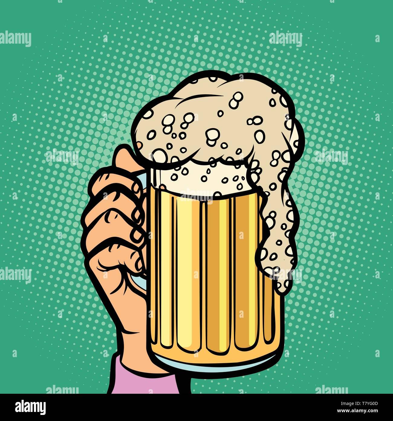 Glass Beer Mug Comic Cartoon Pop Art Retro Vector Illustration Hand Drawing Stock Vector Image Art Alamy