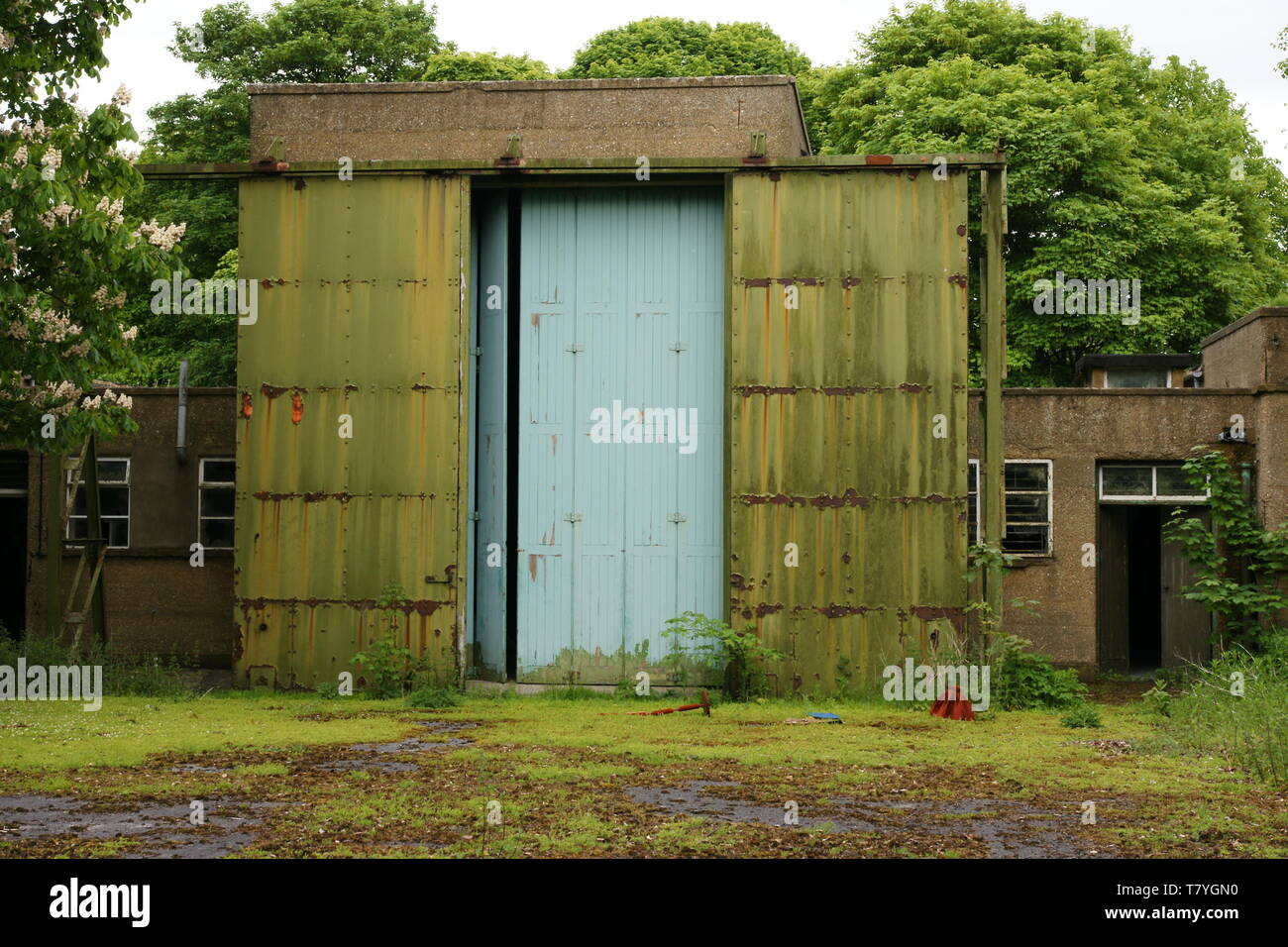 RAF Driffield, ww2 airfield, store with blast proof doors Stock