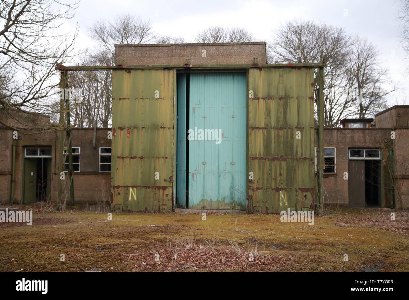 RAF Driffield, ww2 airfield, store with blast proof doors