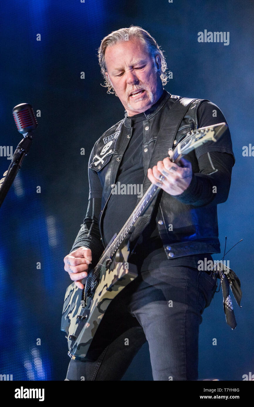 Milan Italy  08 May 2019  The american heavy metal band METALLICA