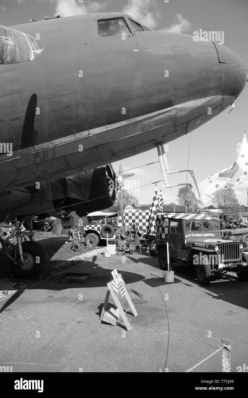 RAF Douglas Dakota, C47, D-day, 1944 - Stock Image