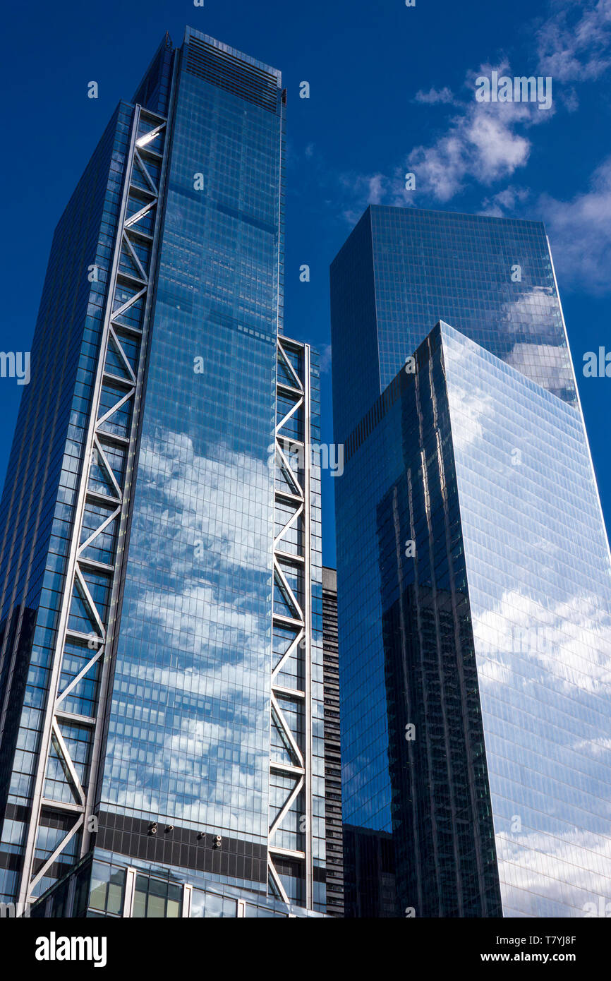 Three World Trade Center (3 WTC) and Four World Trade Center (4 WTC), Lower Manhattan, New York City, USA - Stock Image