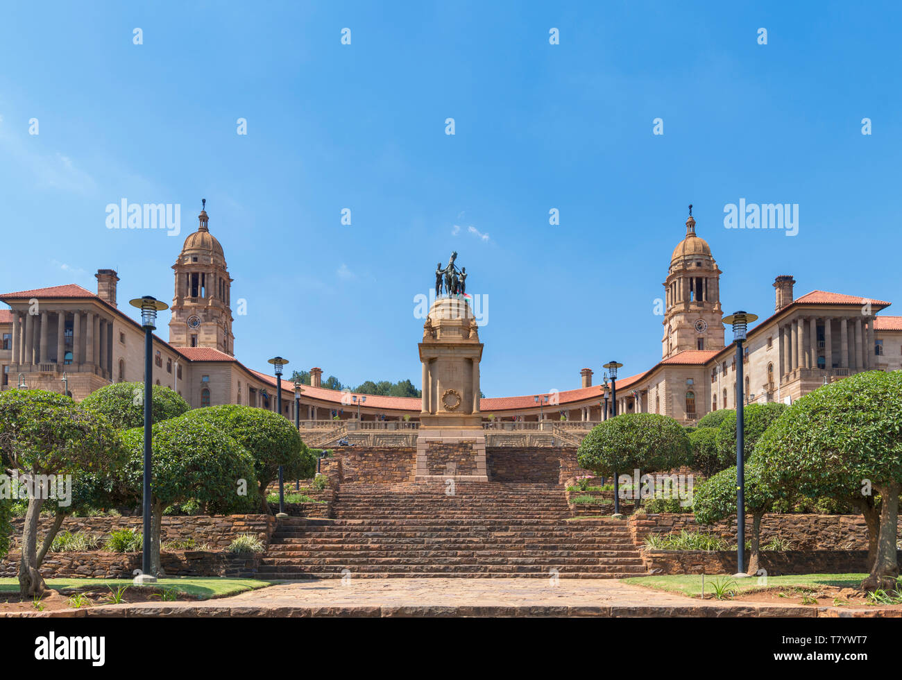 Union Buildings, housing the presidential offices and administrative government headquarters, Pretoria, Gauteng, South Africa - Stock Image