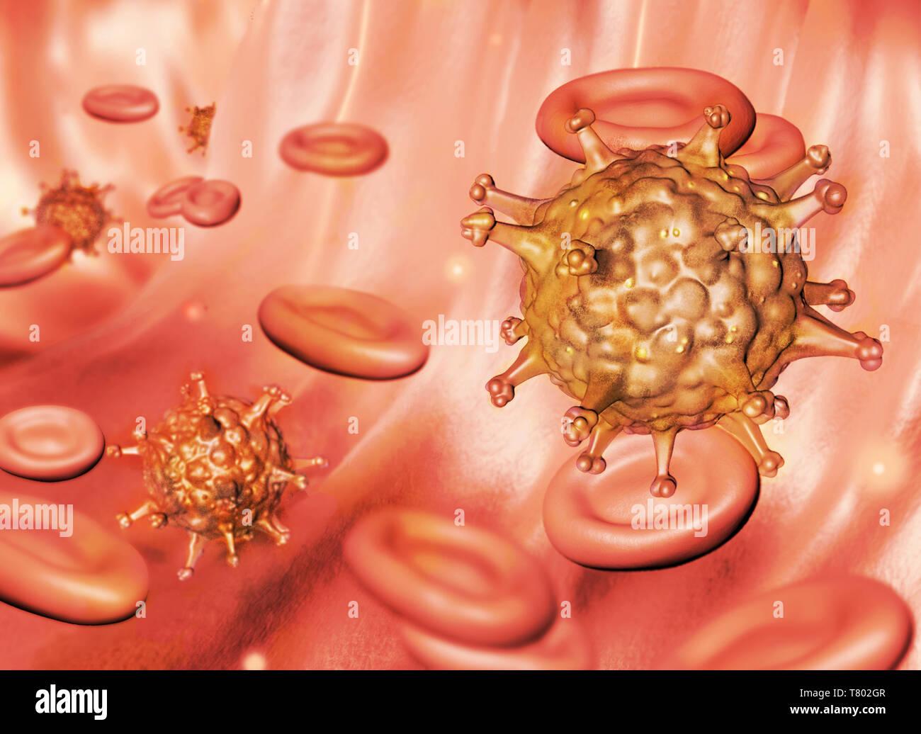 HIV, Illustration - Stock Image