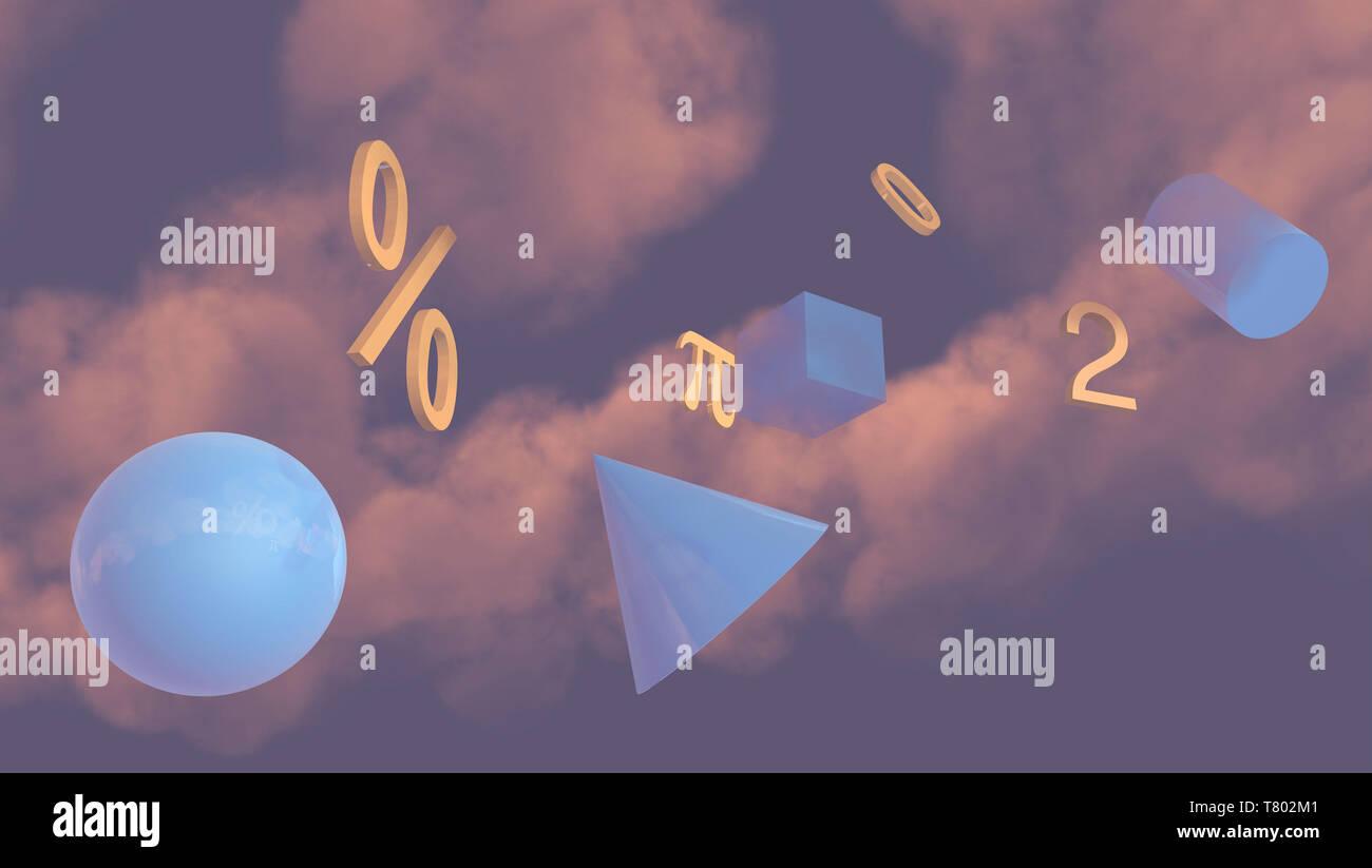 Math, Illustration - Stock Image