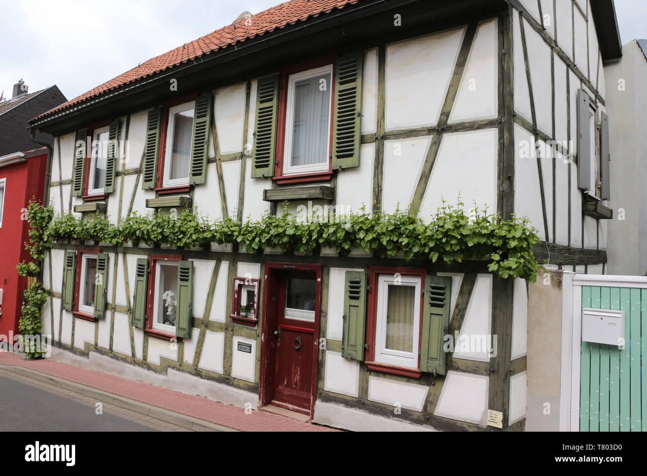 Historische Gebäude im Zentrum von Bad Vilbel in Hessen - Stock Image