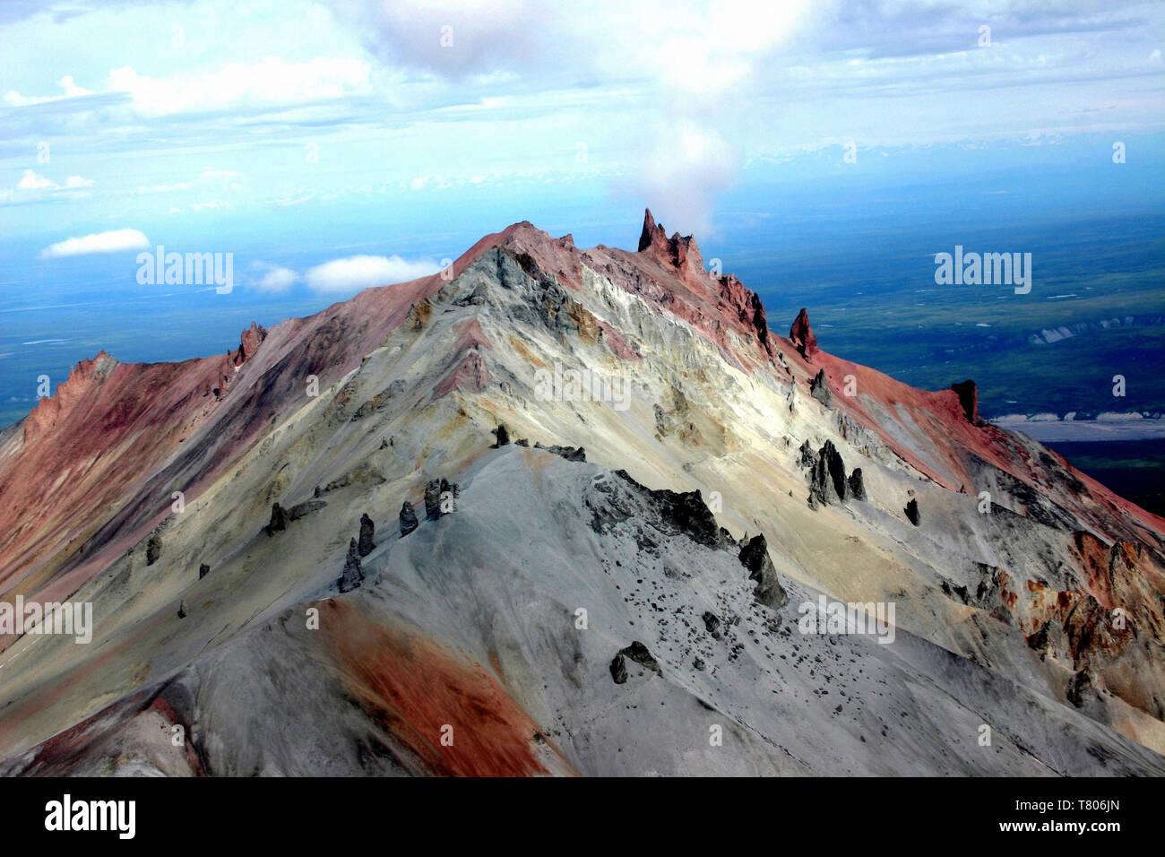 Volcanic Dikes Stock Photo