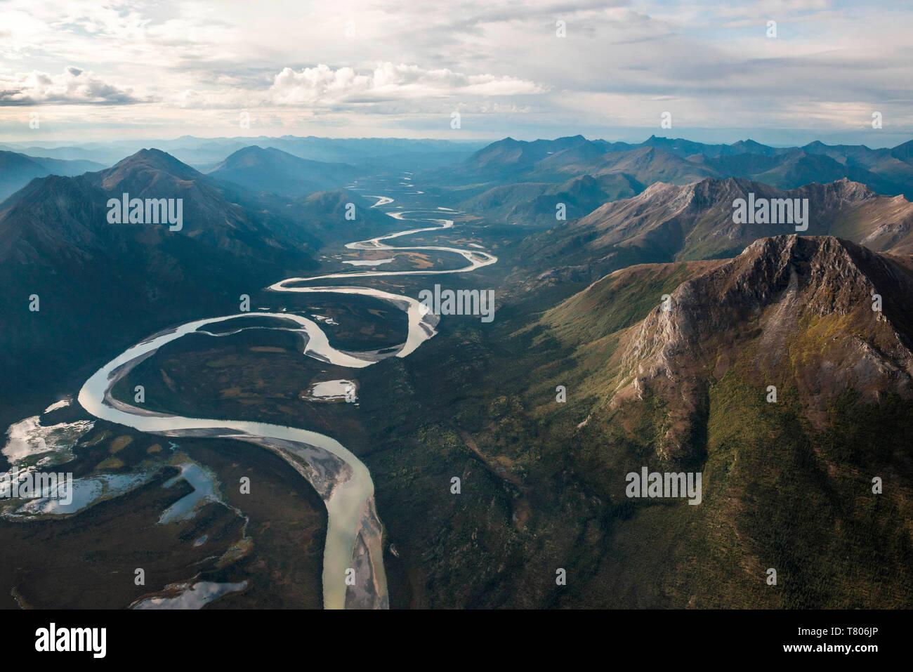 Meandering River, Alaska Stock Photo