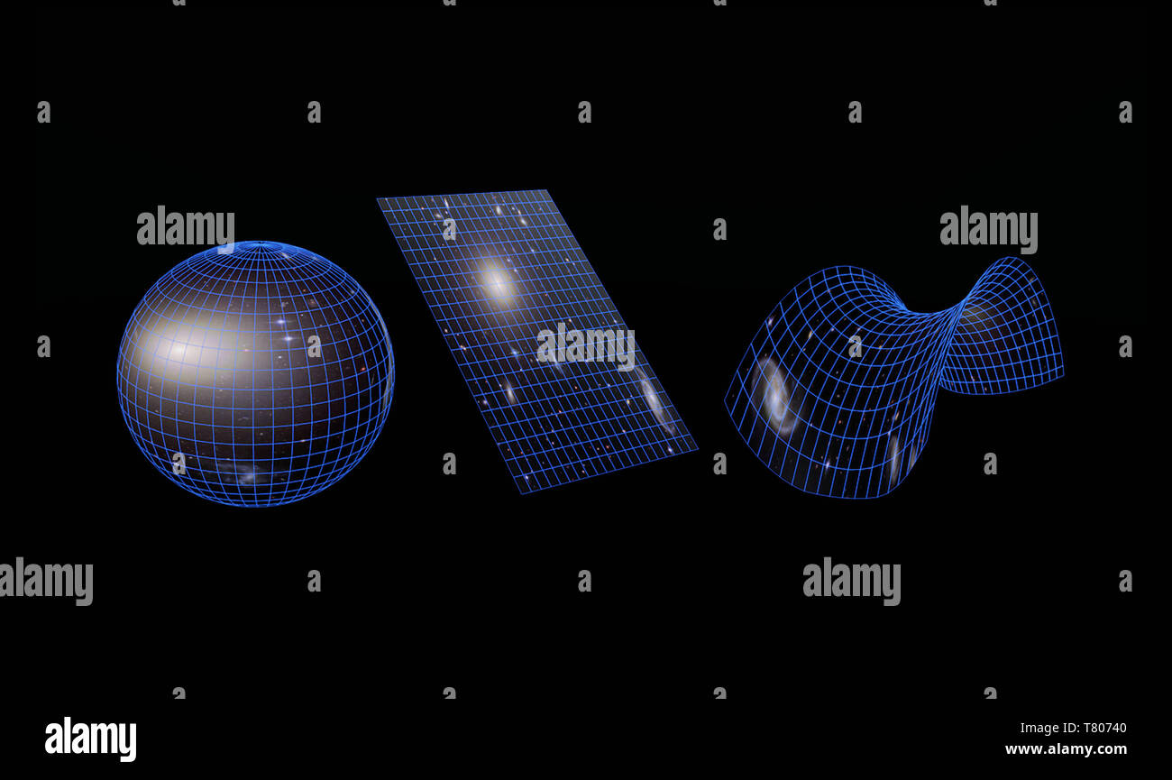 Types of Galaxies, Illustration - Stock Image