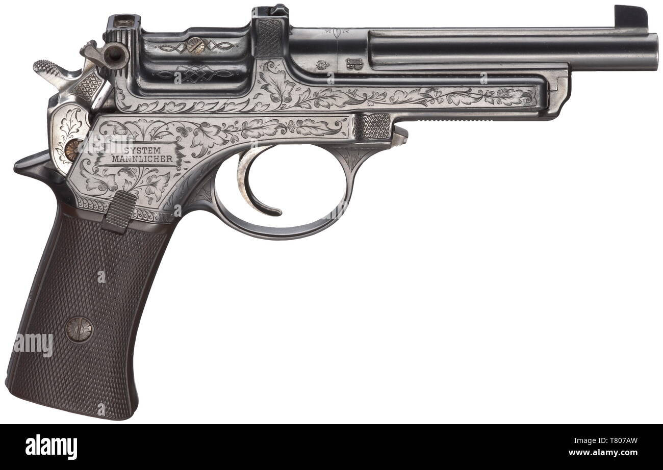 A Mannlicher self-loading pistol mod  1901, engraved deluxe