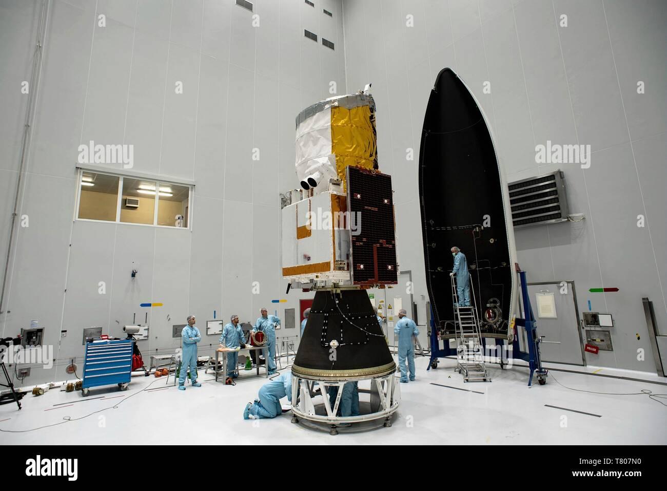 ADM-Aeolus satellite preparations Stock Photo