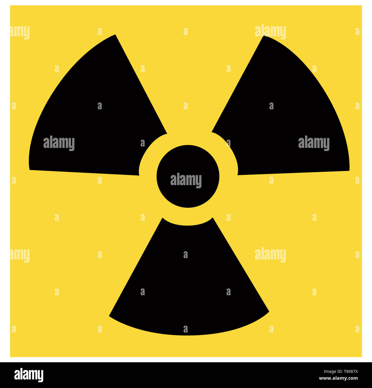 Radiation Symbol, Illustration Stock Photo