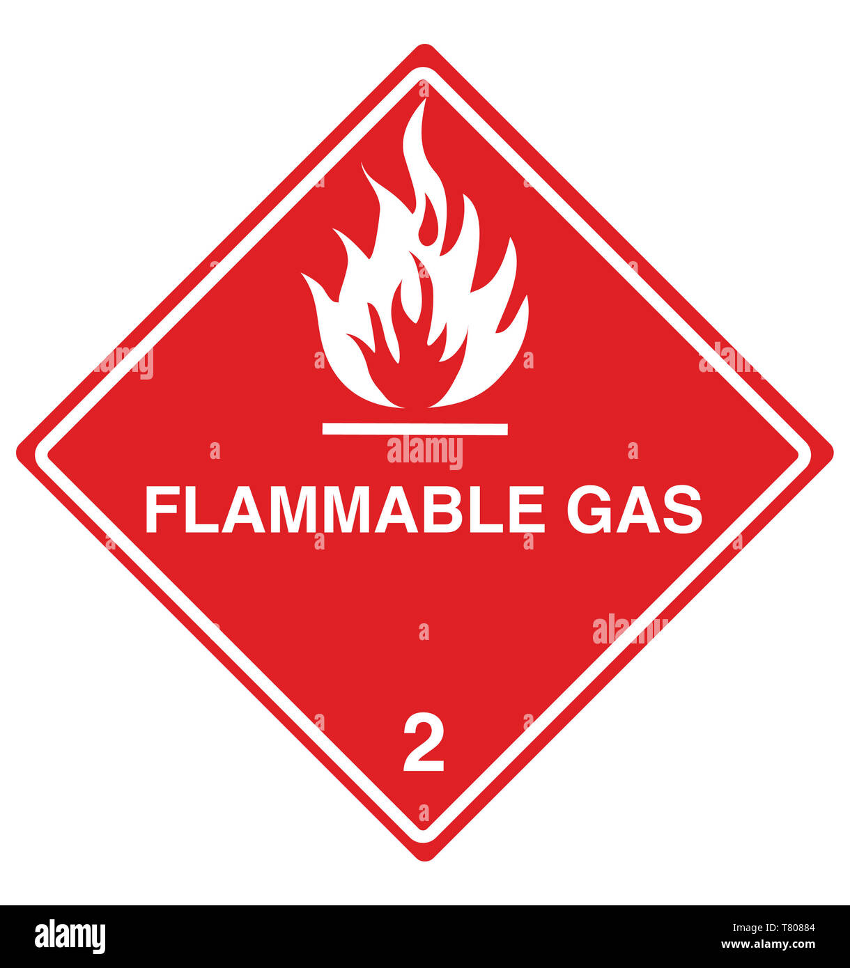 Flammable Gas Sign, Illustration - Stock Image