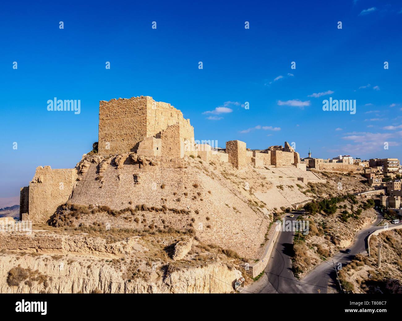 Kerak Castle, Al-Karak, Karak Governorate, Jordan, Middle East Stock Photo