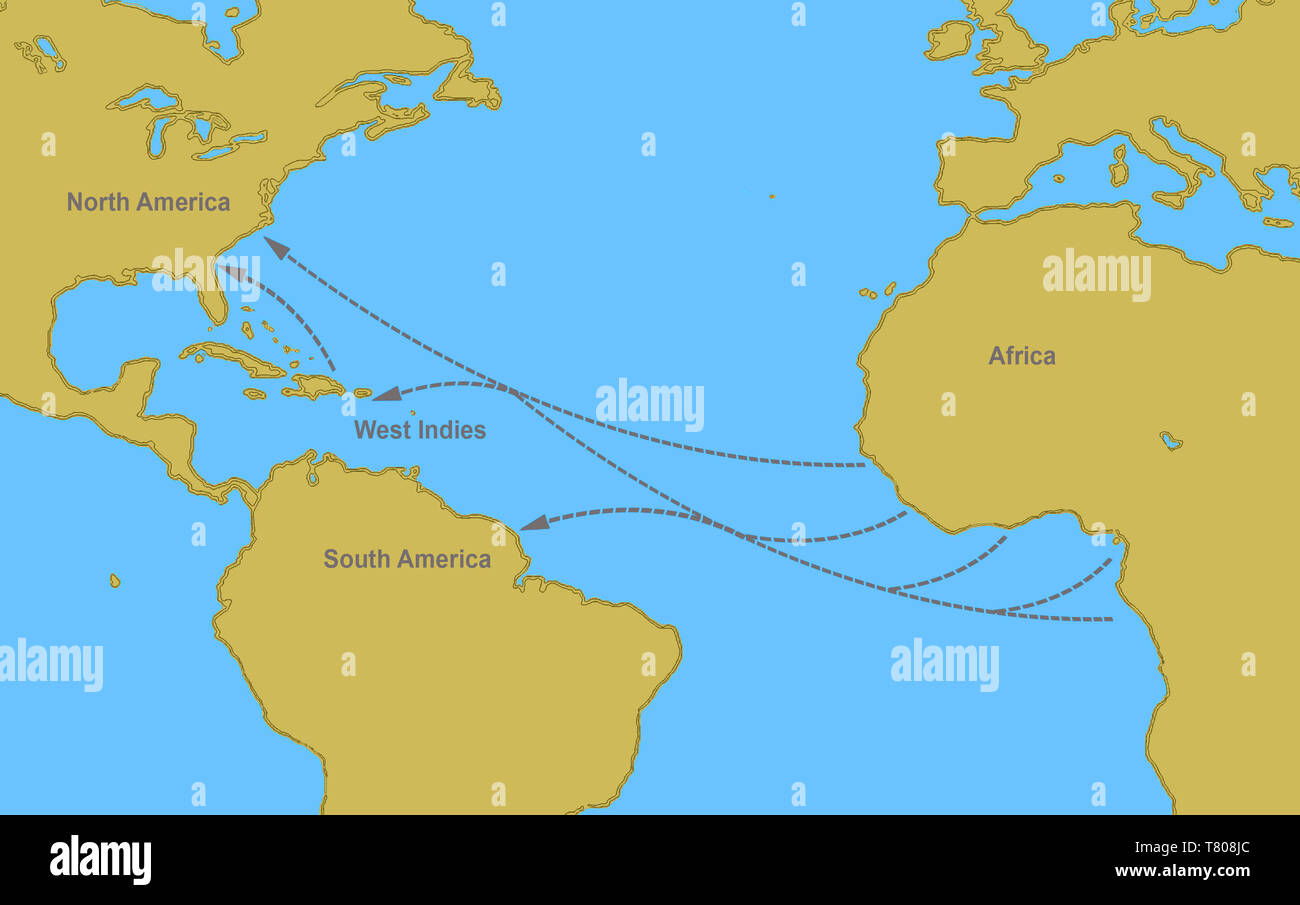 Map Of Africa During Slave Trade.Slave Trade Map Stock Photos Slave Trade Map Stock Images Alamy