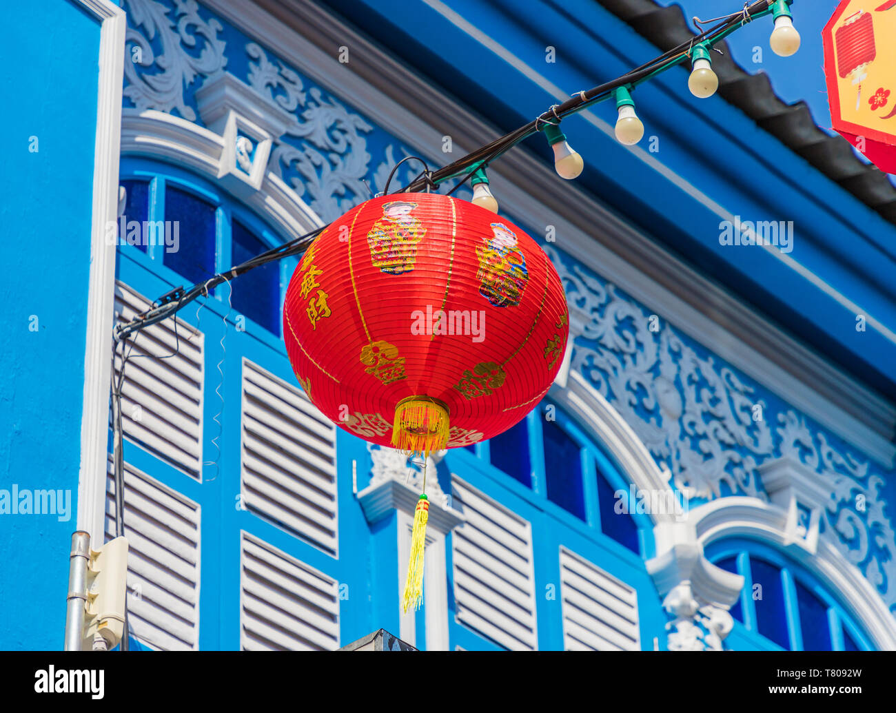 Beautiful Sino Portuguese architecture in Phuket Old Town, Phuket, Thailand, Southeast Asia, Asia Stock Photo