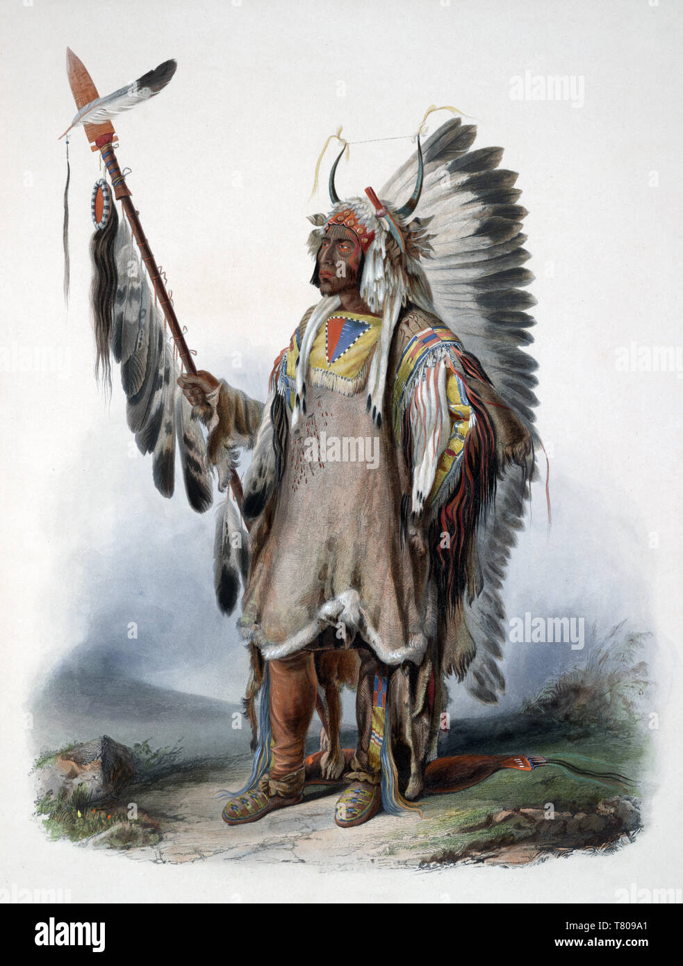 Mato-tope, Native American Mandan Indian Chief Stock Photo