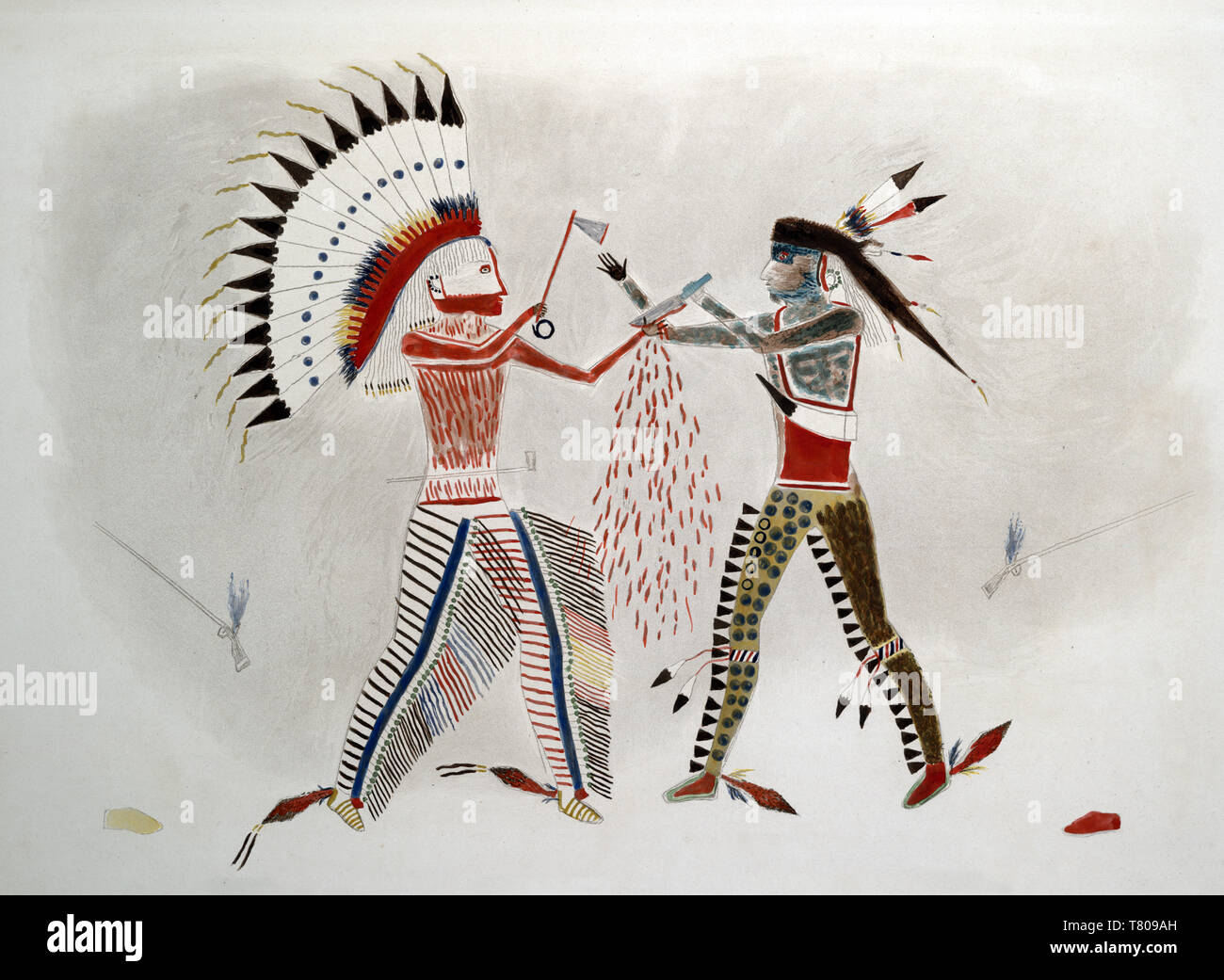 Mato-tope Fights Cheyenne Indian Chief Stock Photo