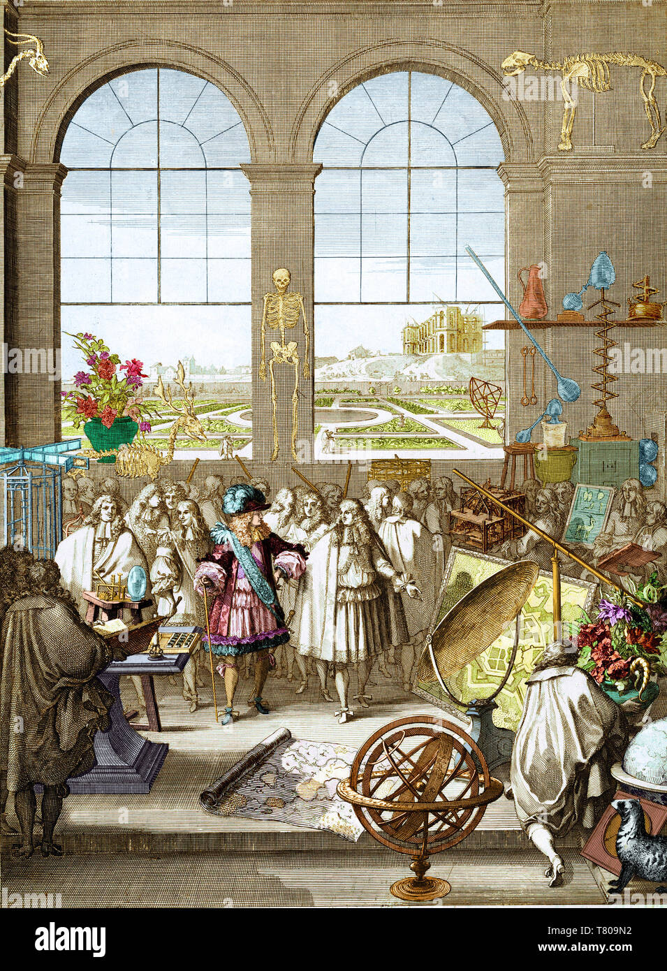 Louis XIV Visiting Royal Academy of Sciences, 1671 - Stock Image