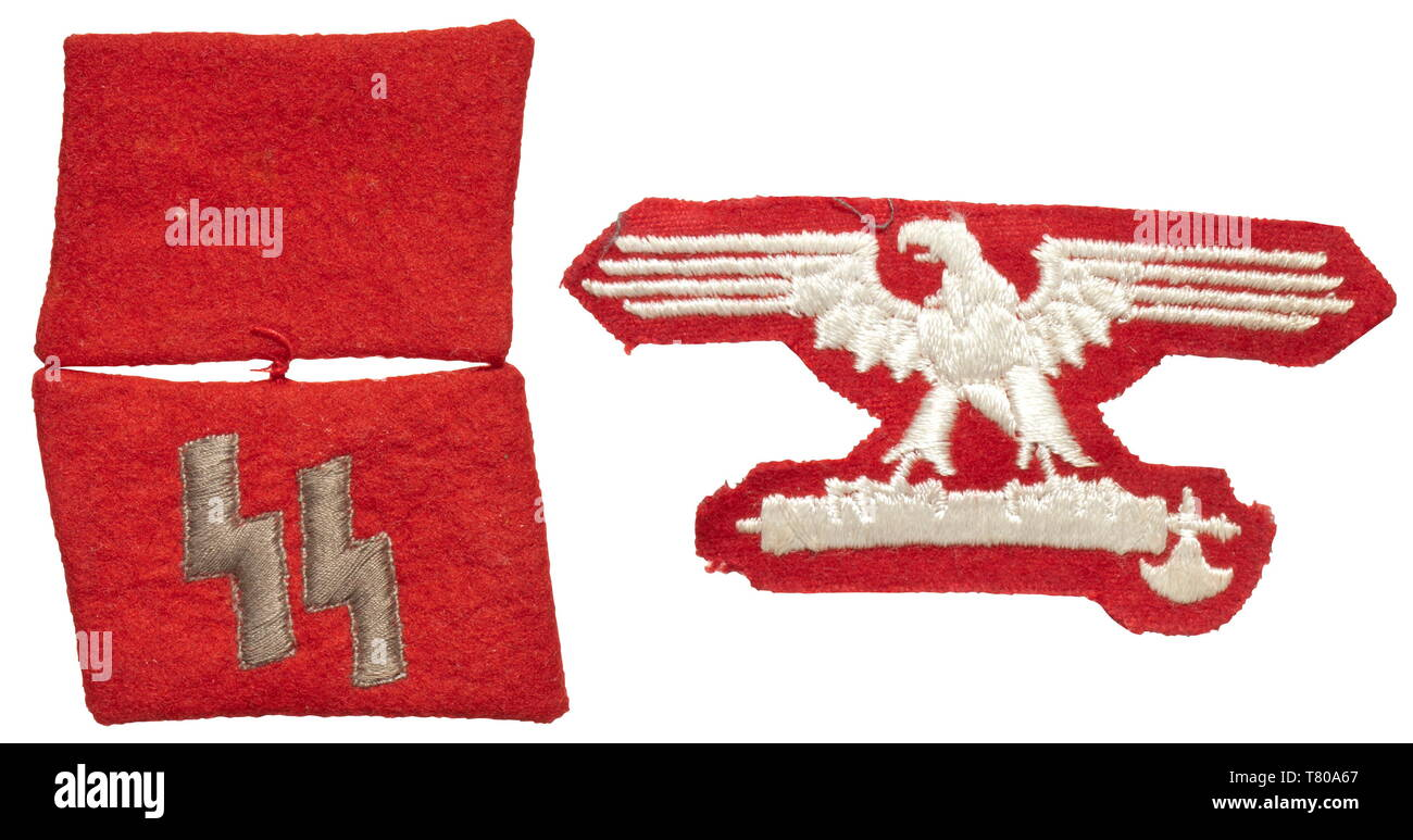 A collar patch and a sleeve eagle for enlisted men/NCOs of