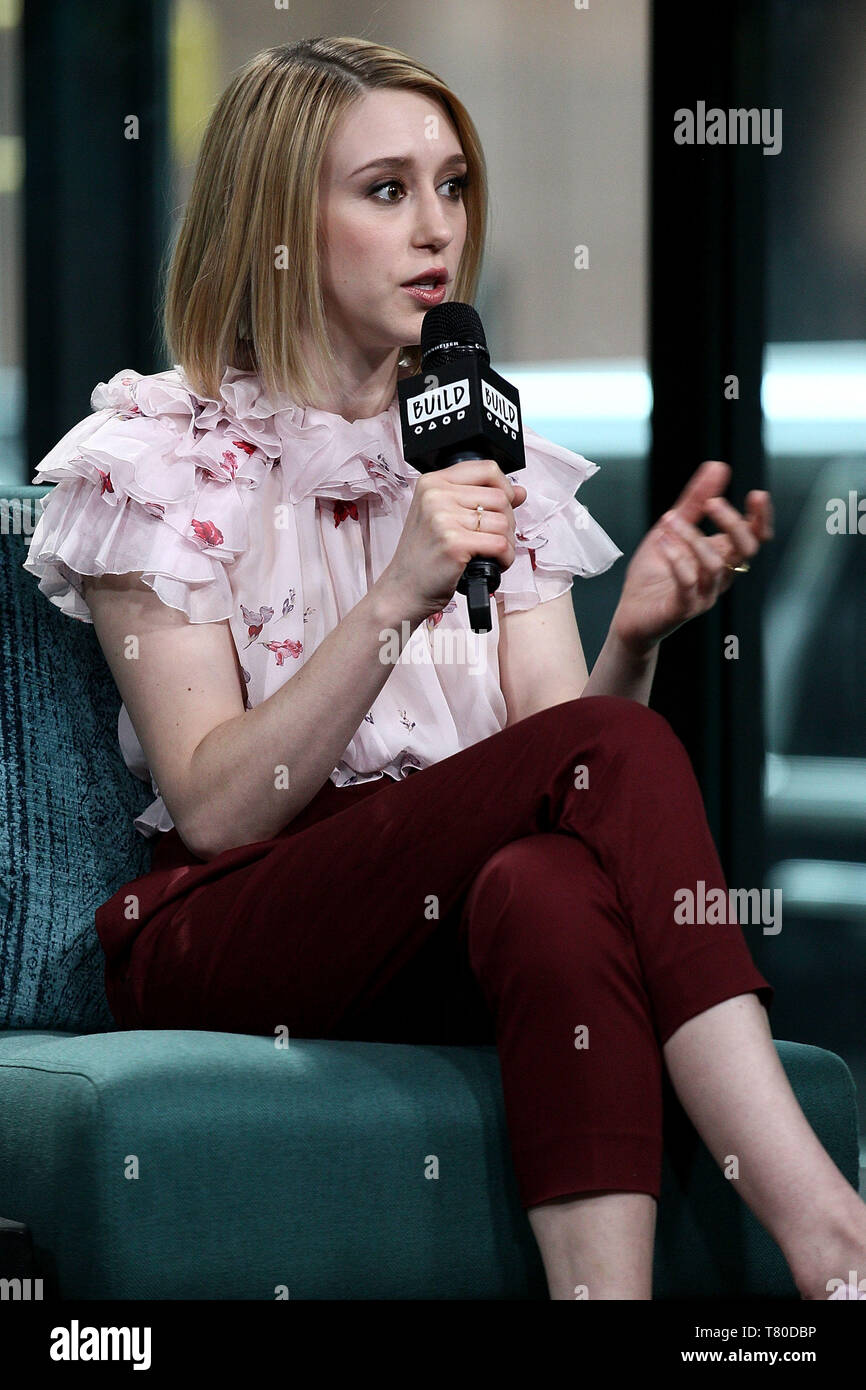 New York, USA. 9 May, 2019. Taissa Farmiga at the BUILD Series with Taissa Farmiga and Crispin Glover, discussing the film 'We Have Always Lived in the Castle' at BUILD Studio. Credit: Steve Mack/Alamy Live News - Stock Image