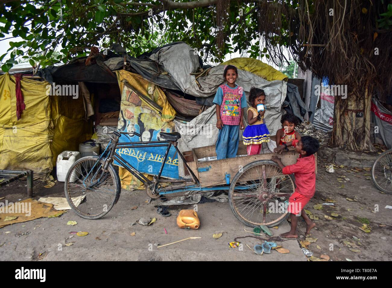 May 9, 2019 - Punjab, Punjab, India - Children are seen playing on a