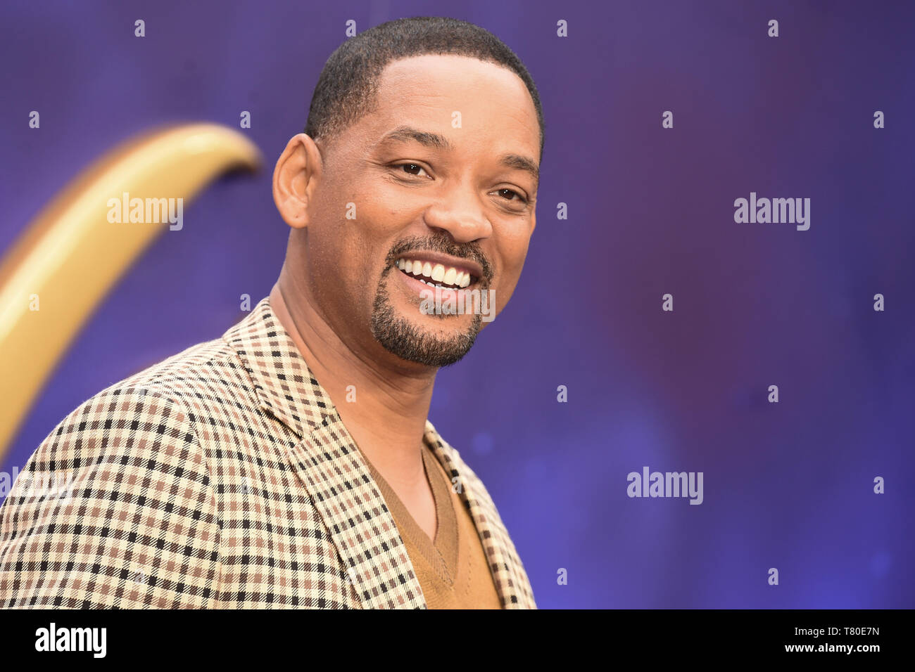 "London, UK. 09th May, 2019. LONDON, UK. May 09, 2019: Will Smith at the ""Aladdin"" premiere at the Odeon Luxe, Leicester Square, London. Picture: Steve Vas/Featureflash Credit: Paul Smith/Alamy Live News Stock Photo"