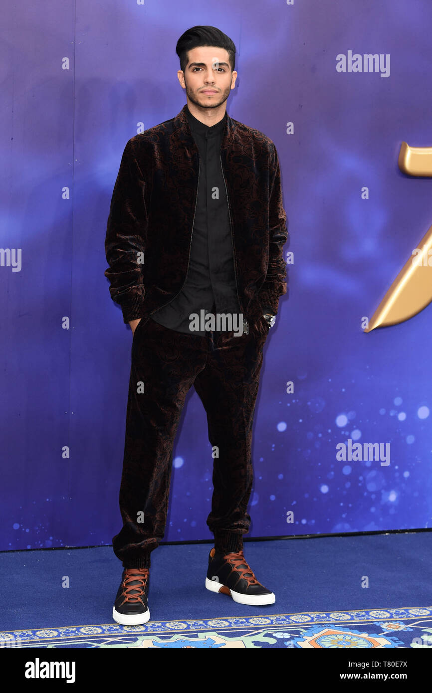 """London, UK. 09th May, 2019. LONDON, UK. May 09, 2019: Mena Massoud at the """"Aladdin"""" premiere at the Odeon Luxe, Leicester Square, London. Picture: Steve Vas/Featureflash Credit: Paul Smith/Alamy Live News Stock Photo"""