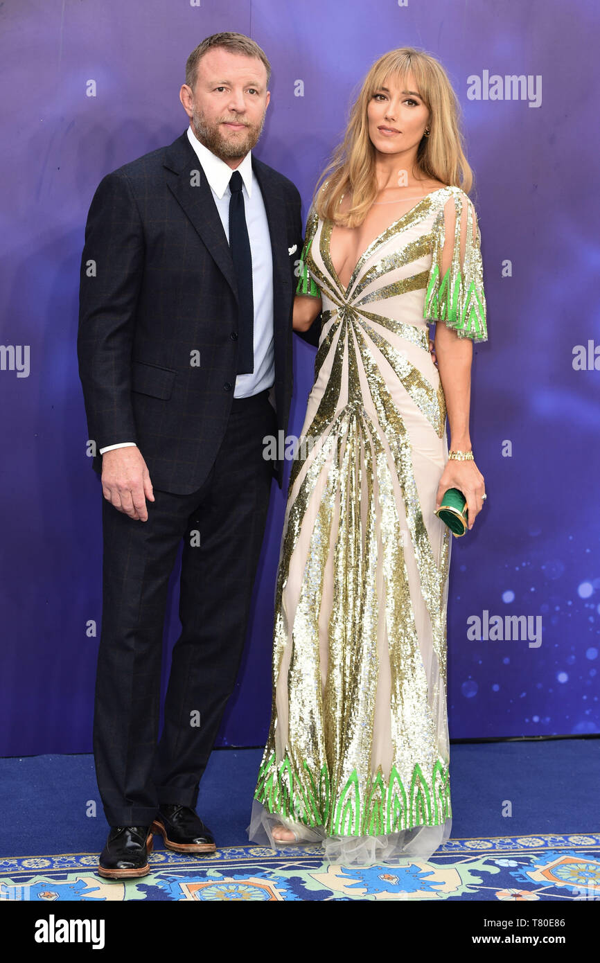 """London, UK. 09th May, 2019. LONDON, UK. May 09, 2019: Director Guy Ritchie & wife Jacqui Ainsley at the """"Aladdin"""" premiere at the Odeon Luxe, Leicester Square, London. Picture: Steve Vas/Featureflash Credit: Paul Smith/Alamy Live News Stock Photo"""