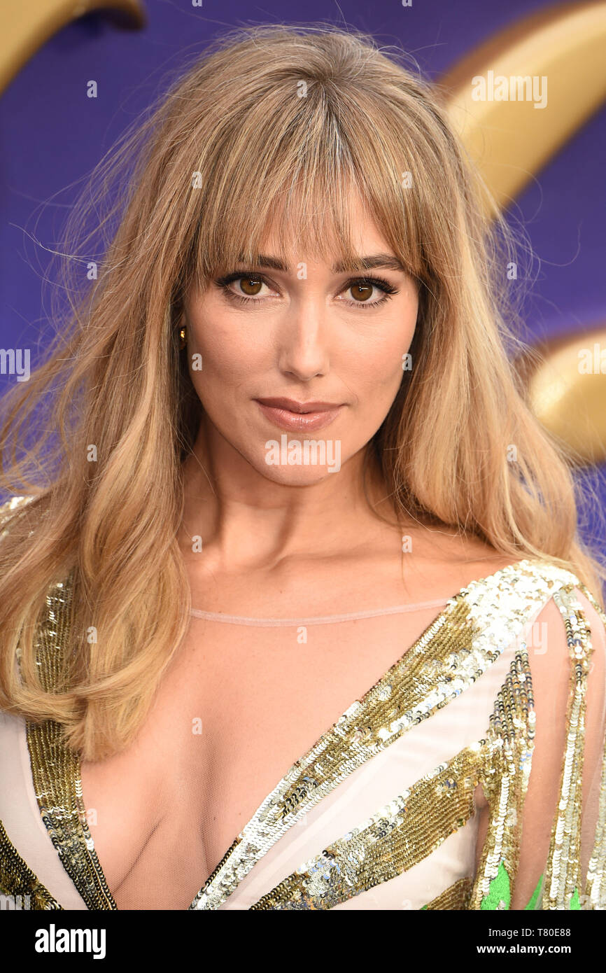 "London, UK. 09th May, 2019. LONDON, UK. May 09, 2019: Jacqui Ainsley at the ""Aladdin"" premiere at the Odeon Luxe, Leicester Square, London. Picture: Steve Vas/Featureflash Credit: Paul Smith/Alamy Live News Stock Photo"