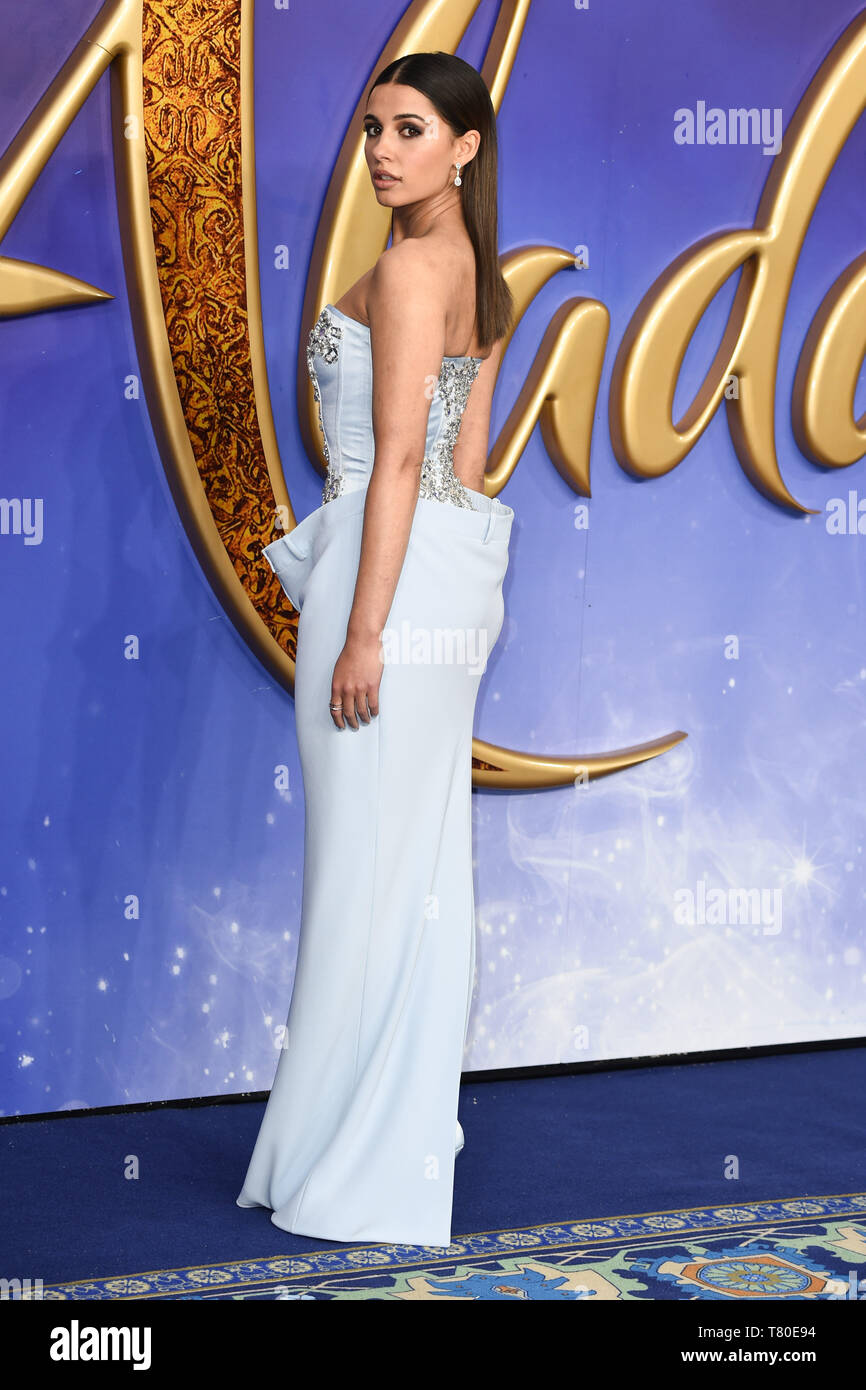 """London, UK. 09th May, 2019. LONDON, UK. May 09, 2019: Naomi Scott at the """"Aladdin"""" premiere at the Odeon Luxe, Leicester Square, London. Picture: Steve Vas/Featureflash Credit: Paul Smith/Alamy Live News Stock Photo"""
