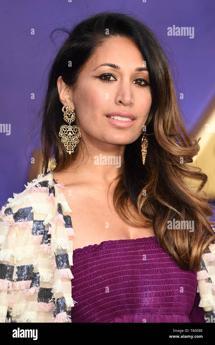 """London, UK. 09th May, 2019. LONDON, UK. May 09, 2019: Preeya Kalidis at the """"Aladdin"""" premiere at the Odeon Luxe, Leicester Square, London. Picture: Steve Vas/Featureflash Credit: Paul Smith/Alamy Live News Stock Photo"""