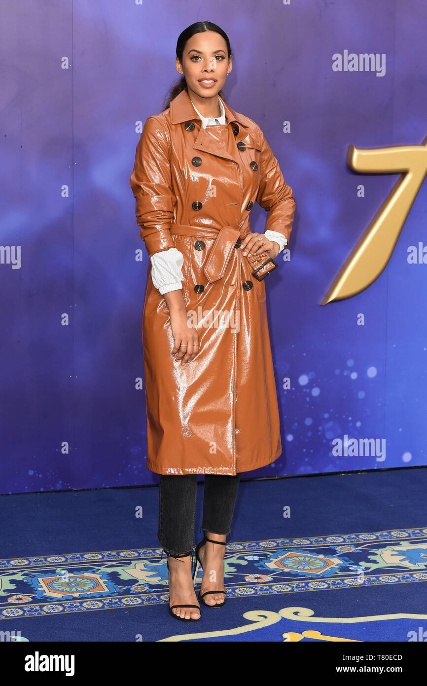 """London, UK. 09th May, 2019. LONDON, UK. May 09, 2019: Rochelle Humes at the """"Aladdin"""" premiere at the Odeon Luxe, Leicester Square, London. Picture: Steve Vas/Featureflash Credit: Paul Smith/Alamy Live News Stock Photo"""