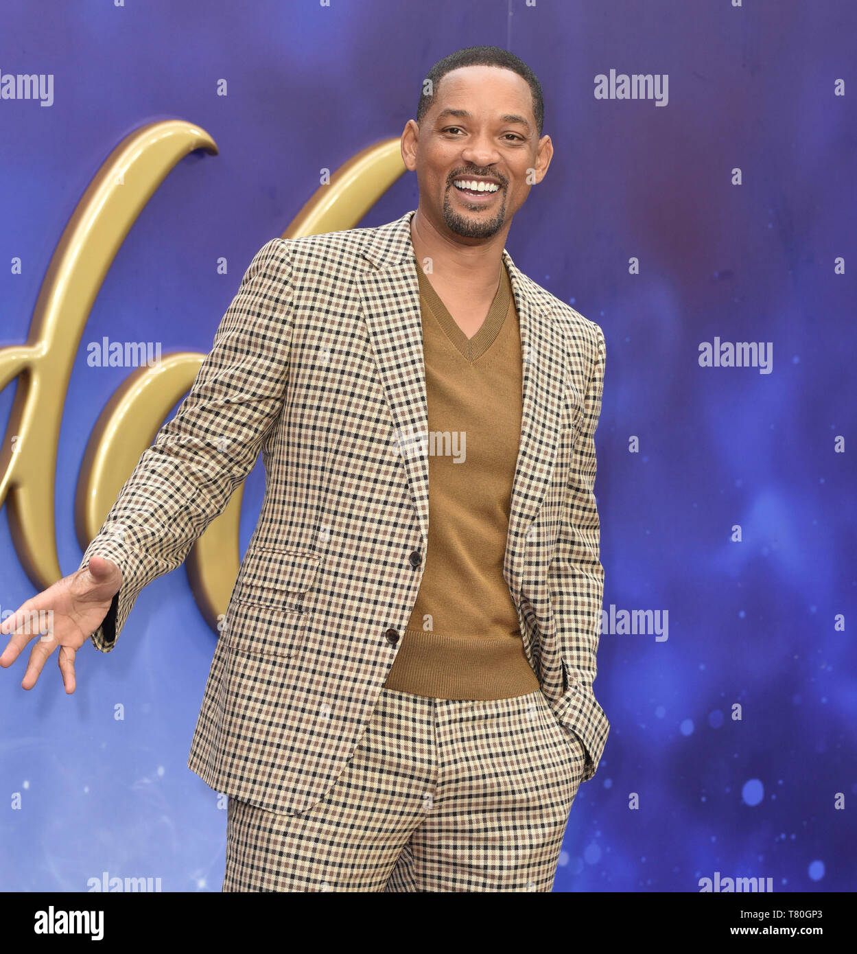 Will Smith attends the European Gala of 'Aladdin' at the Odeon Luxe Leicester Square in London, England - Stock Image