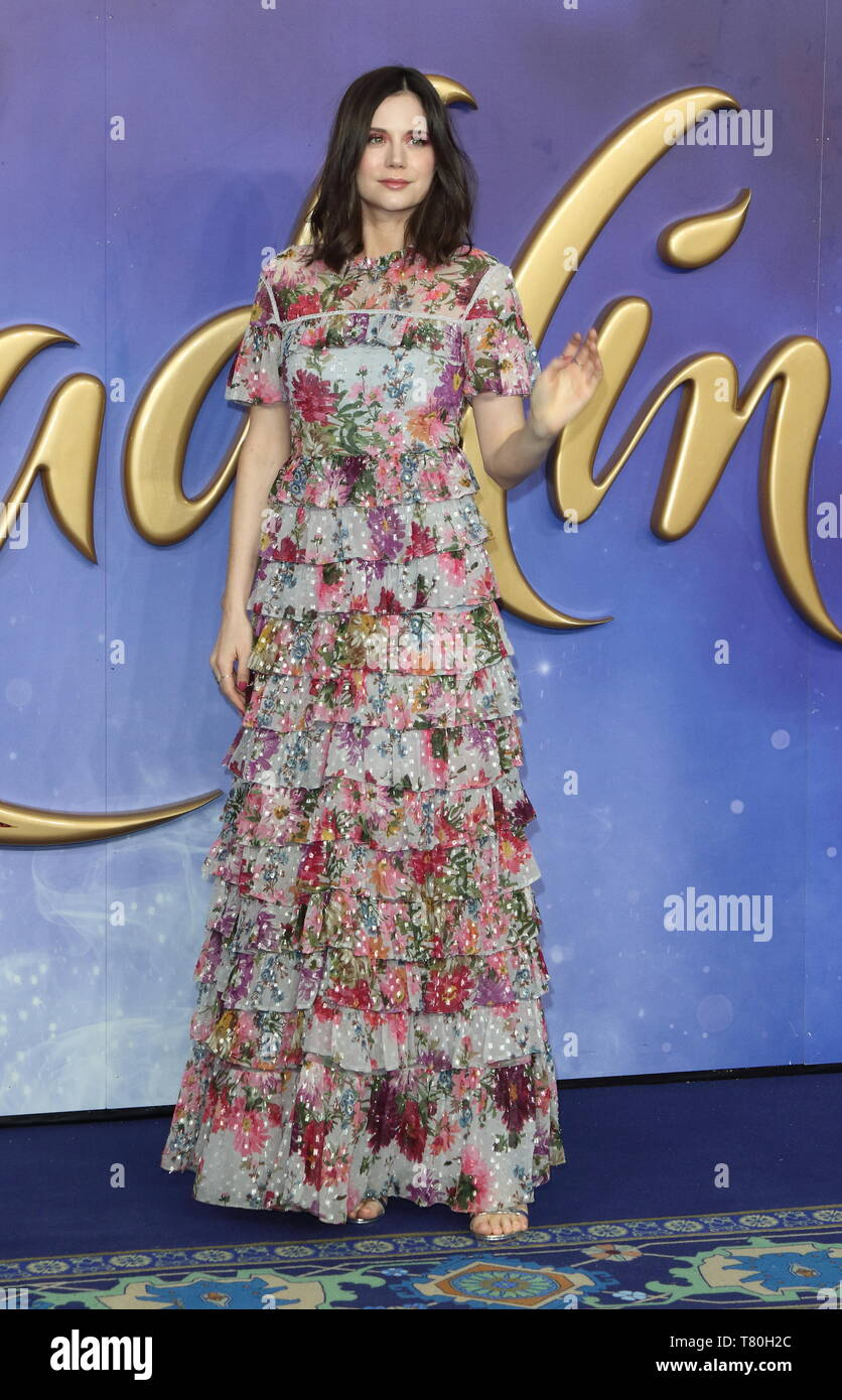 Lilah Parsons attends the Aladdin European Gala Screening at the Odeon Luxe Leicester Square - Stock Image