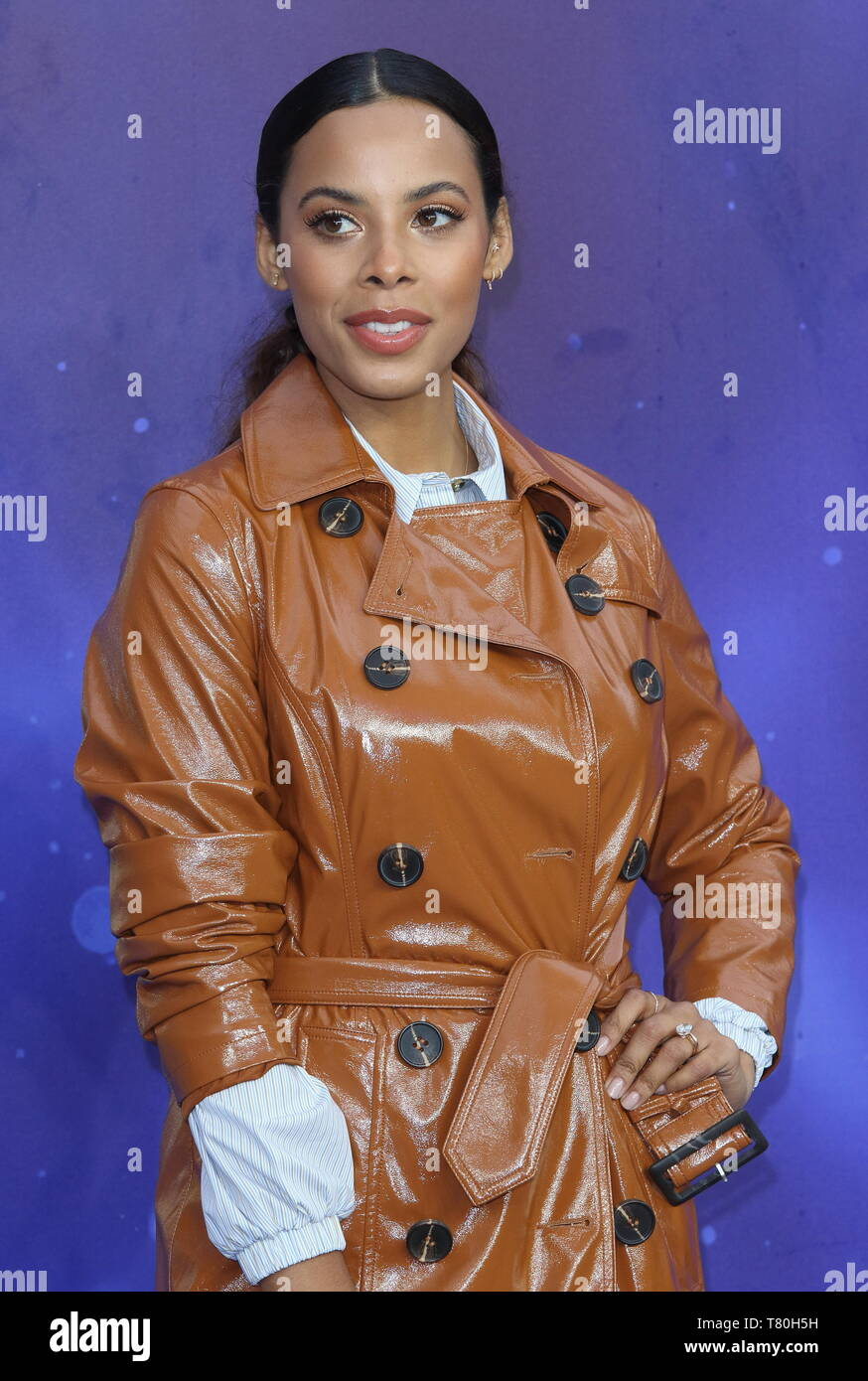 Rochelle Humes attends the Aladdin European Gala Screening at the Odeon Luxe Leicester Square - Stock Image