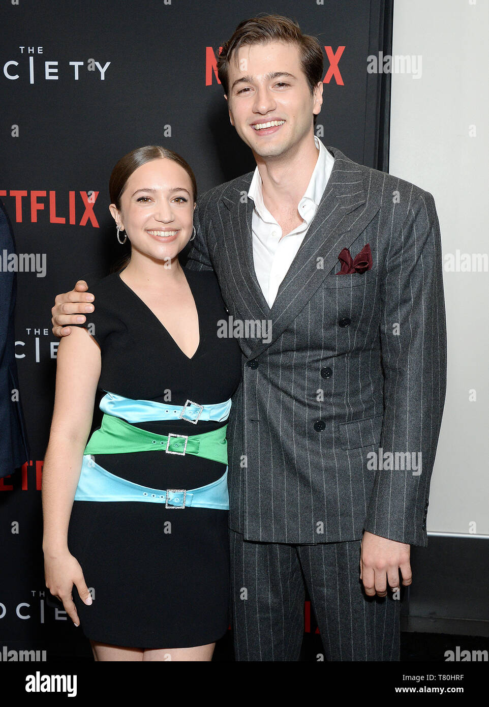 Los Angeles, California, USA. 09th May, 2019. Pictured: Alex Fitzalan, Gideon Adlon Netflix - The Society Season 1 Premiere - Arrivals 5/9/19, Los Angeles, California, United States of America Credit: Broadimage Entertainment/Alamy Live News - Stock Image