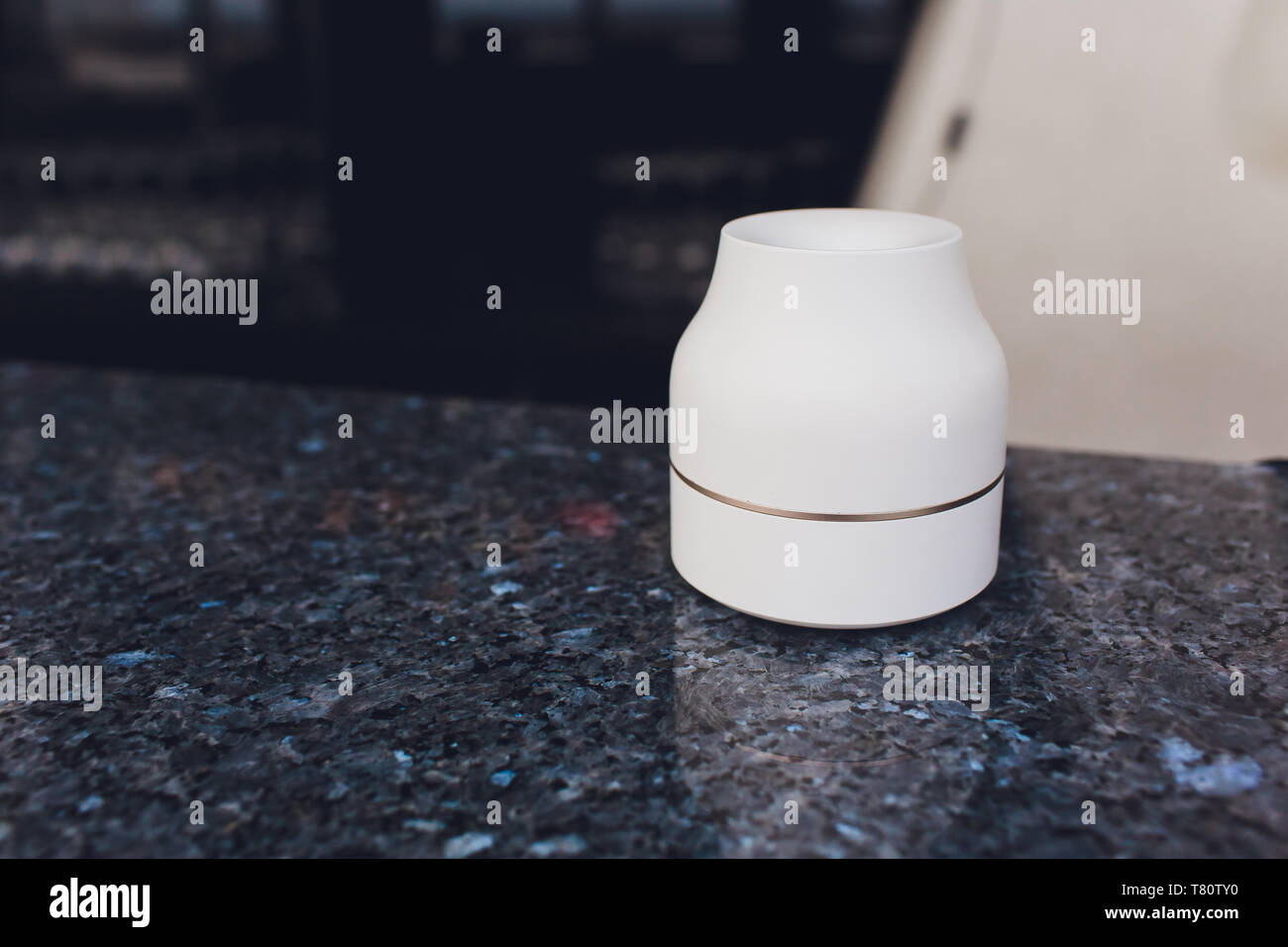 New technology of electronic cigarettes, system of heating stick ashtray - Stock Image