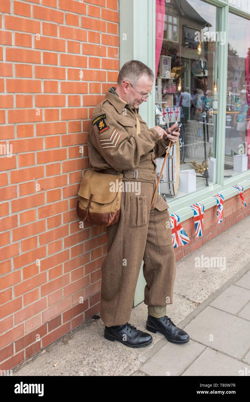 British army soldier ww2 stock photos british army for Spa uniform france