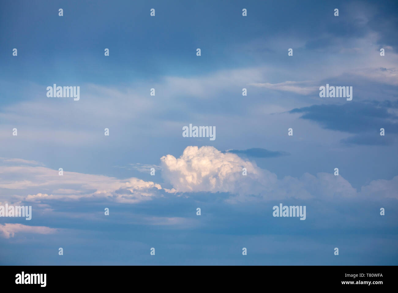 Clouds building in the sky above Etosha National Park, Namibia - Stock Image