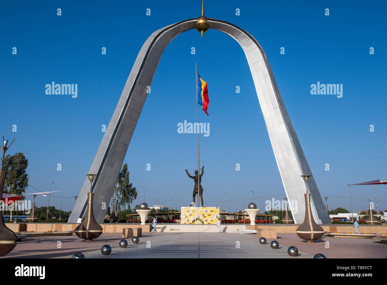 Monument of Independence, Place de la Nation, N'Djamena, Chad, Africa - Stock Image