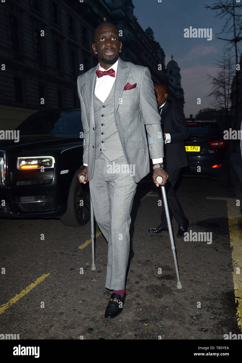 Mamadou Sakho Melody Thornton at Football For Peace Initiative Dinner by Global Gift  Featuring: Mamadou Sakho Where: London, United Kingdom When: 08 Apr 2019 Credit: WENN.com - Stock Image